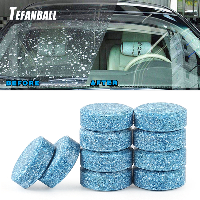500Pcs Car Solid Wiper Fine Seminoma Wiper Auto Window Cleaning Effervescent Tablet Windshield Glass Cleaner Household Cleaning