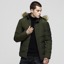 British Fashion Winter Jackets Men Fur Collar Hooded Coats Thick Warm Parka Men England Style Casual Outwear Donw Jackets Hombre fgkks winter jacket 2017 warm coat thick parka chaquetas plumas hombre men coats jackets slim fit outwear casual clothing