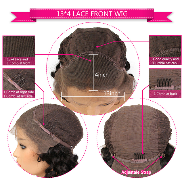 SHD Dark Blue Lace Front Wigs with Pre Plucked Hairline Brazilian Remy Hair Body Wave Lace Front Human Hair Wig with Baby Hair 6