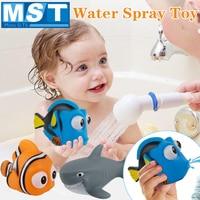 8 個のおもちゃ漫画フローティングスプレー水スクイズセットカラフルな海の動物ソフトゴムの浴室のおもちゃ