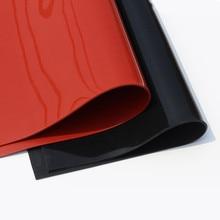 1.5 ミリメートル/2 ミリメートル/3 ミリメートル赤/黒シリコーンゴムシート 500X500mm黒シリコーンシート、ゴムマット、シリコーンシート熱抵抗