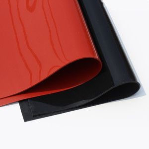 Image 1 - 1.5mm/2mm/3mm Red/Black Silicone Rubber Sheet 500X500mm Black Silicone Sheet, Rubber Matt, Silicone Sheeting for Heat Resistance