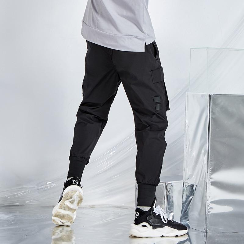 2020 New Harem Pants Men 's Summer Sports Multi- Bag Beam Feet Elastic Waist Lace Popular Brand Thin Section Cargo Pants
