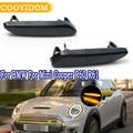 COOYIDOM 1 пара, Динамический светодиодный боковой маркер, плавный поворотник светильник вой сигнал для BMW Mini Cooper R60 R61 12 В, ретрансляторная лампа,...