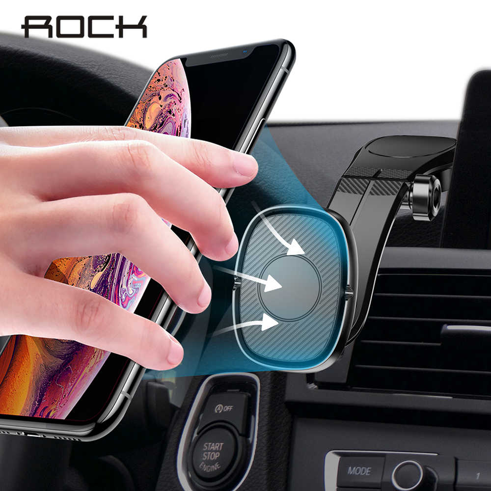 ROCK magnetyczny uchwyt samochodowy na telefon iPhone Samsung Xiaomi składany magnes uniwersalny uchwyt samochodowy do montażu na stojaku