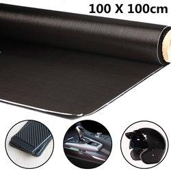 Высокопрочная 3K 100 г/м2 100x см прочная высокопрочная ткань из углеродного волокна для большинства моделей автомобильных запчастей спортивно...