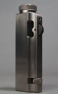 Керосиновая ретро-зажигалка ручной работы из чистого титана DXJ 8,5*3*1,5 см 95 г