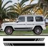 2 pièces autocollants de carrosserie latérale de voiture pour Mercedes Benz G55 G63 AMG W463 G500 classe G350D SUV rayures décalques accessoires de réglage automatique