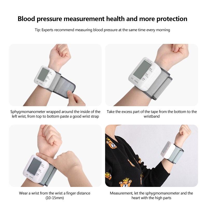 Image 4 - Cofoe Digital Wrist Blood Pressure Monitor Automatic Sphygmomanometer Voice BP Tonometer Heart Rate Pulse For Health CareBlood Pressure   -