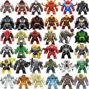 Marvel Avengers Thanos Iron Man Hulk Spiderman Batman Wolverine Building Blocks figure di film Super Heroes giocattoli per bambini(China)