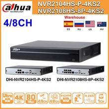 Dahua NVR2104HS P 4KS2 NVR2108HS 8P 4KS2 4CH 8CH POE NVR 4K Recorder Unterstützung HDD 4/8CH POE Für CCTV System Sicherheit kit.