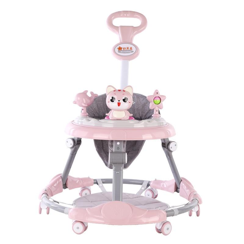 New Style Baby Walker 6-Speed Adjustment Multi-functional Anti-Flip Anti-O Type Leg Men's And Women's Baby Walker Wholesale