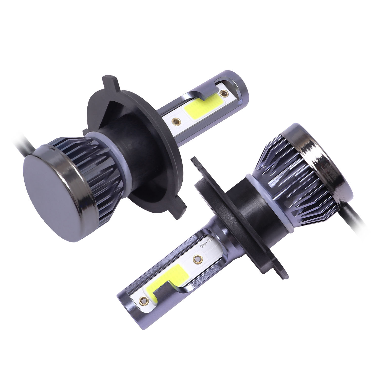 2pcs set Mini 1500W H4 COB LED Headlight Bulb FOG Driving Light High and Low Light DRL aviation aluminum LED light 6000K 9V 36V in Car Light Assembly from Automobiles Motorcycles