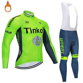 Invierno 2020 Saxo bank Tinkoff polar térmico Ciclismo Jersey Ropa Ciclismo MTB...