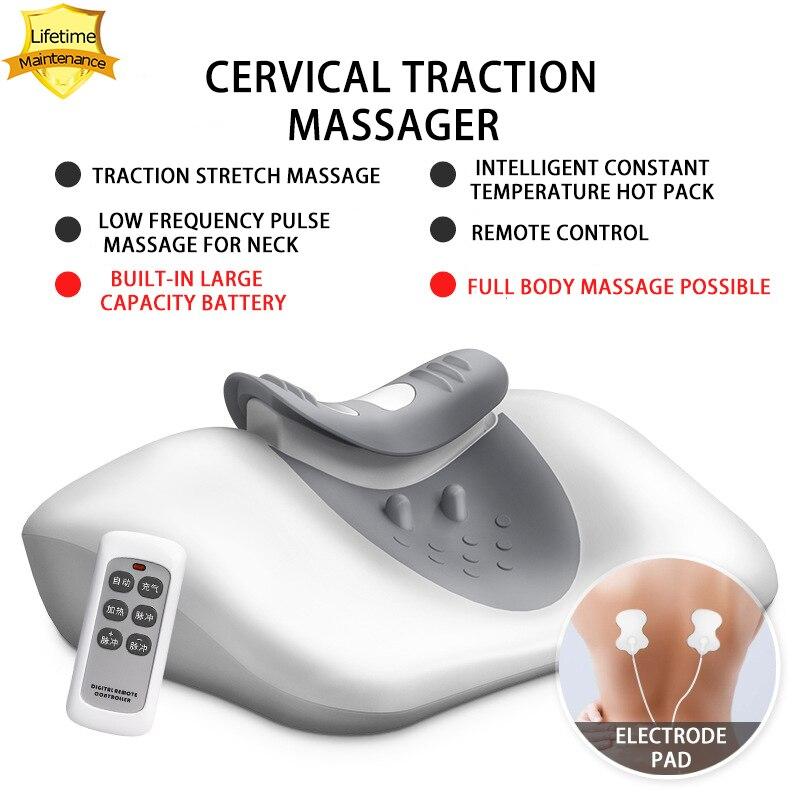 Wireless Massage pillow Cervical Traction Massager Pulse Hot Pack|Massage Pillow| - AliExpress