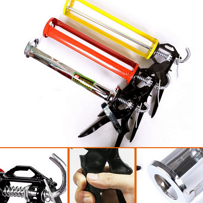 Glass Tools Industrial Glue Caulking Gun Cartridge Sealant 360 Degree Rotatable Durable Rotating Caulking Gun Caulk Adhesive Gun