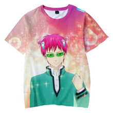 Camiseta divertida de manga corta con estampado de Anime de vida de la desastrosa Saiki K camiseta de hombre efecto 3D, disfraz de Cosplay de Saiki ksuso