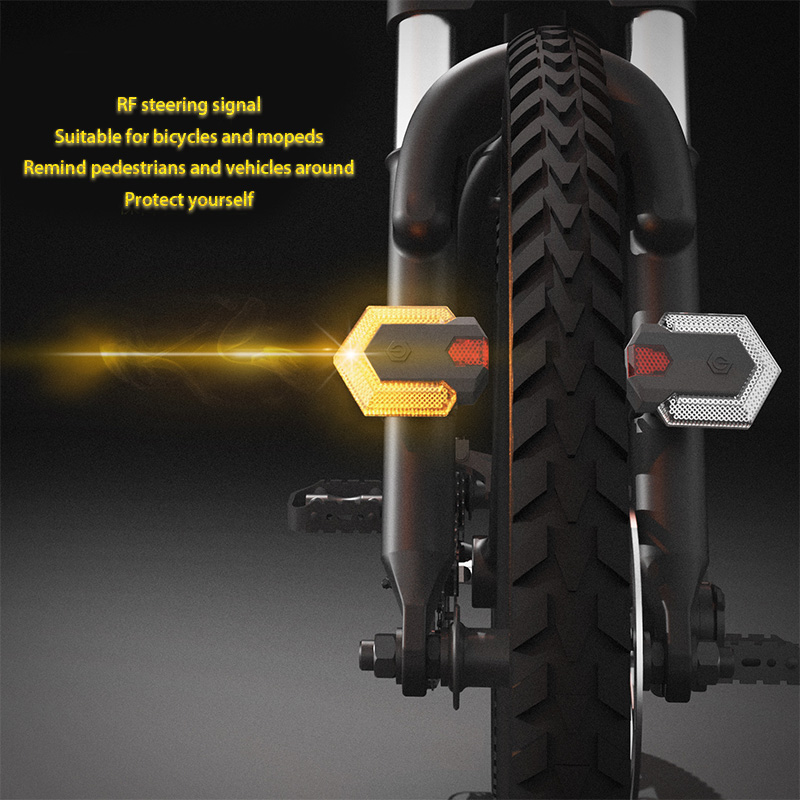 1set Bike Turn Signals Front And Rear Light With Smart Wireless Remote Control Bike Tail Light For Cycling Safety Warning Light