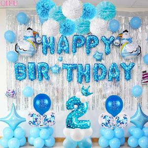 2 Years Old Birthday Balloons Balloon 2 Birthday Party Decoration Kids 2nd birthday 2 Years Boy Girl Children's Balloons Party
