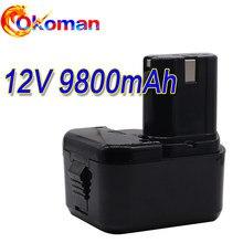Para hitachi eb1214s ds12dvf3 bateria recarregável 12v 9800mah ni-cd sem fio broca batteria para eb1212s eb1220bl eb1214l eb1230