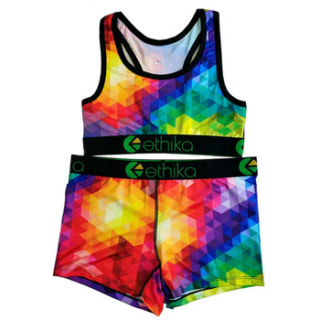 Ethika Women Set  2 Piece Leopard Sexy Crop Tops Tube Top Female Sleeveless Bra And Shorts Woman Sets Two Pieces Casual Outfits 1