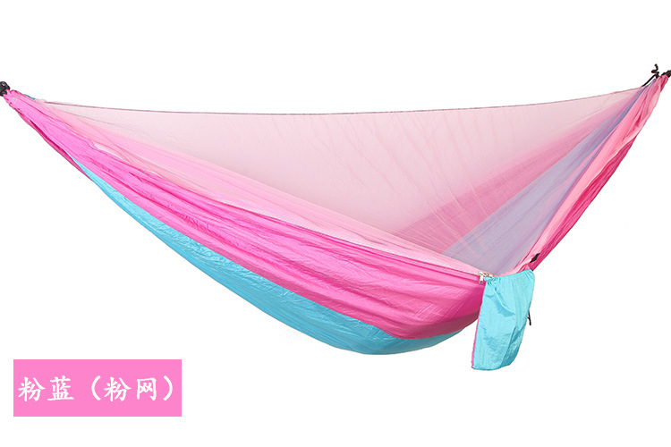 Hammock tent chair swing outdoor patio furniture camping hammock automatic quick opening mosquito double parachute hammock - 3