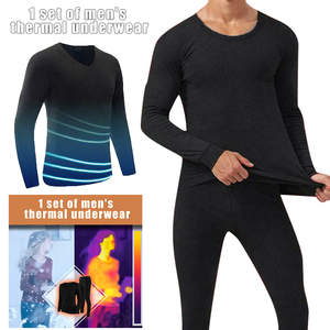 Men Seamless Elastic Suit Thermals Inner Wear Solid Color Warm Slim Long Underwear Set for Winter Fashion Pants Home Hot TC21