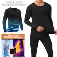 Men Seamless Elastic Thermals Inner Wear Solid Color Warm Slim Underwear for Winter TC21