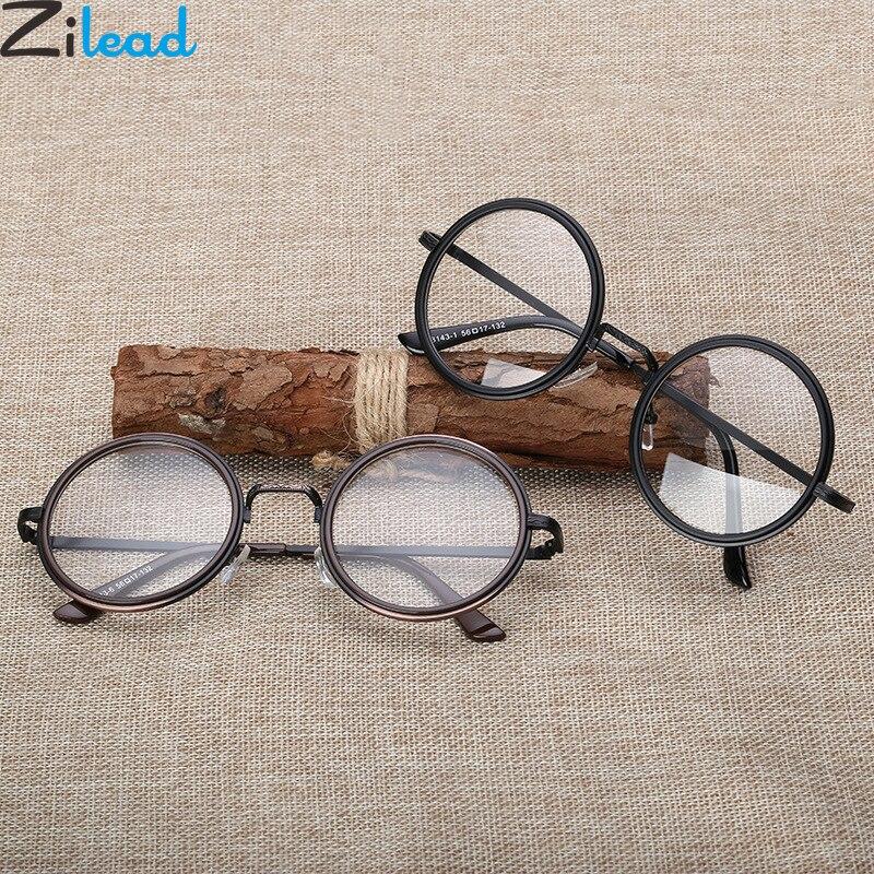 Zilead Retro Round Glasses Frame Men Women Transparent Lens Optical Sepectacles Plain Eyeglasses Eyewear Unisex