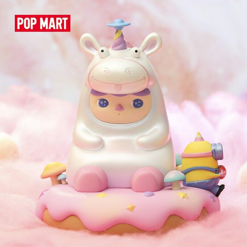 POP MART Pucky X Миньоны Пушистый Единорог Детская Коллекция игрушки милые действия Kawaii коллекционные игрушки Фигурки