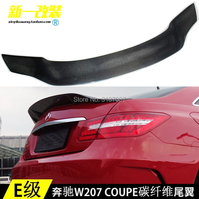 For <font><b>Mercedes</b></font> E Class <font><b>Coupe</b></font> 2010 - 2016 E200 E250 <font><b>E300</b></font> E350 Carbon Fiber Rear Roof Spoiler Wing Trunk Lip Boot Cover Car Styling image