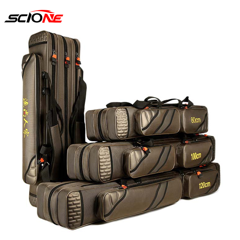 4 Layer Fishing Bag Large Capacity Portable Fish Pole Tools Storage Bag Tackle Gear Bags Shoulder Handbag Outdoor Sport XA9G