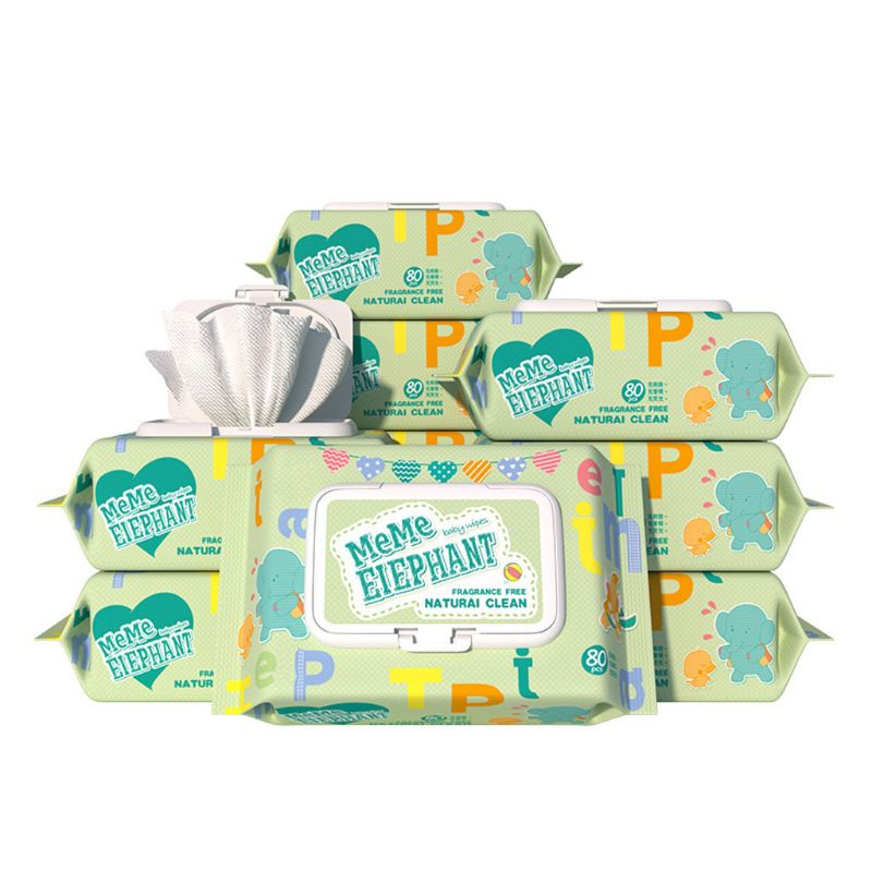 Flushable Wet Wipes For Baby, Alcohol Free, Unscented,Flip-Top,80 Wipes Per Pack