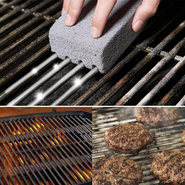 1Pcs BBQ Grill Cleaning Brick Block Barbecue Cleaning Stone Stains Gadgets BBQ BBQ Racks Kitchen decorates Tools Grease Cle I1A1 1