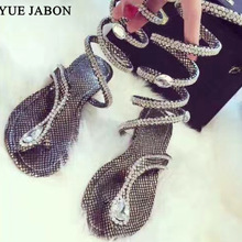 Plus size35-46 Diamond Summer women sandals Crystal Sexy Women Gladiat