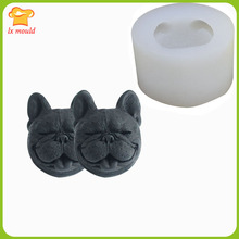 2019 new Shapi dog head mold chocolate silicone 3D jelly candle soap