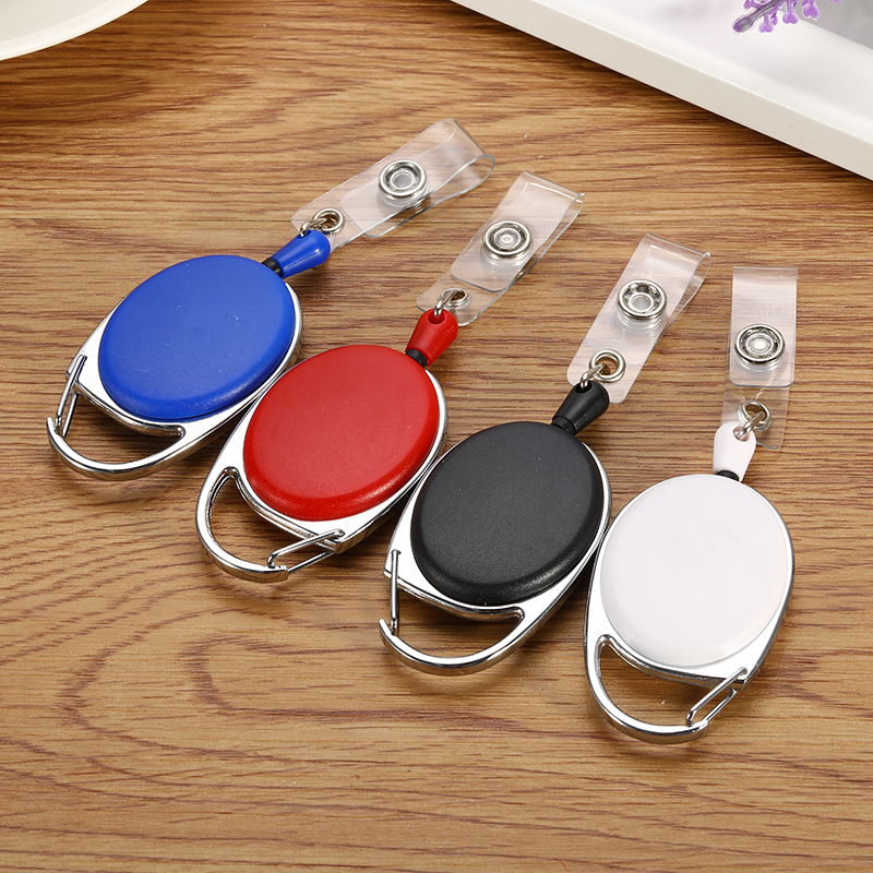 Retractable Pull Keychain Recoil Reel Belt Clip Stretchable Key Ring Lanyard ID Badge Holder Name Tag Card Key Chain