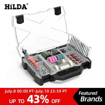 HILDA Dremel Accessories Set Rotary Tool Accessories for Grinding Sanding Polishing Cutting Tool Kit For Hilda Dremel