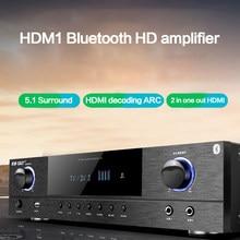 KYYSLB 900W 4-16Ohm K22 de Casa de poder 5,1 amplificador Karaoke Audio Digital Subwoofer Bluetooth profesional amplificador de AV