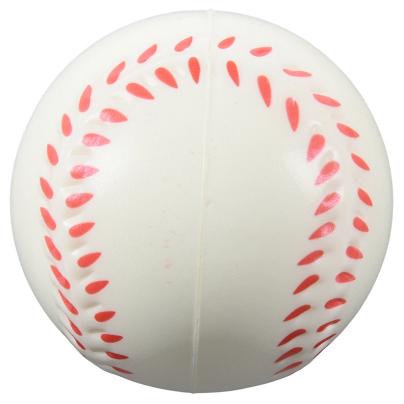 White Baseball Stress Ball