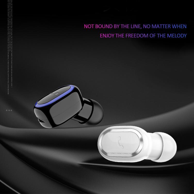 2019 Bluetooth 5.0 Headset Sport Wireless Earphones Mini Earbuds Stereo Headphon 40 MA Capacity Noise Canceling Headphones