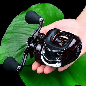 Image 1 - Rooxin Baitcasting דיג סליל 7.1:1 18 + 1BB 10kg גרור כוח קרפיון דיג רוק דיג מתמודד ימין יד שמאל טיפת מים גלגל