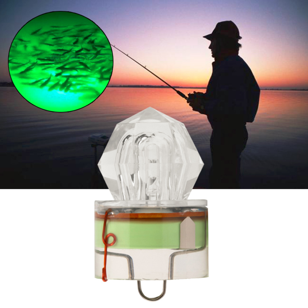 5 Colors LED Deep Underwater Diamond Fishing Flashing Light Bait Lure Squid Strobe