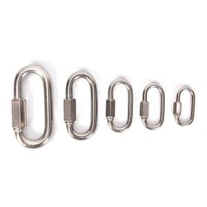 Chain Quick-Link Connector Keychain-Buckle-Locking-Carabiner Stainless-Steel M5 M4 M6