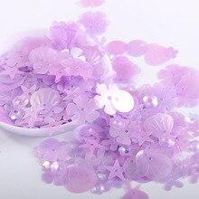 10g matte transparent purple PET sequins wedding dress DIY handmade accessories accessories decorative accessories highend beads
