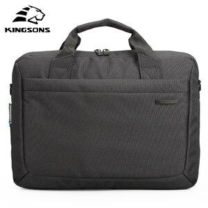 Image 4 - Kingsons бренд водонепроницаемый 12 ,13,14 ,15 дюймовый ноутбук сумка для ноутбука портфель сумка на плечо