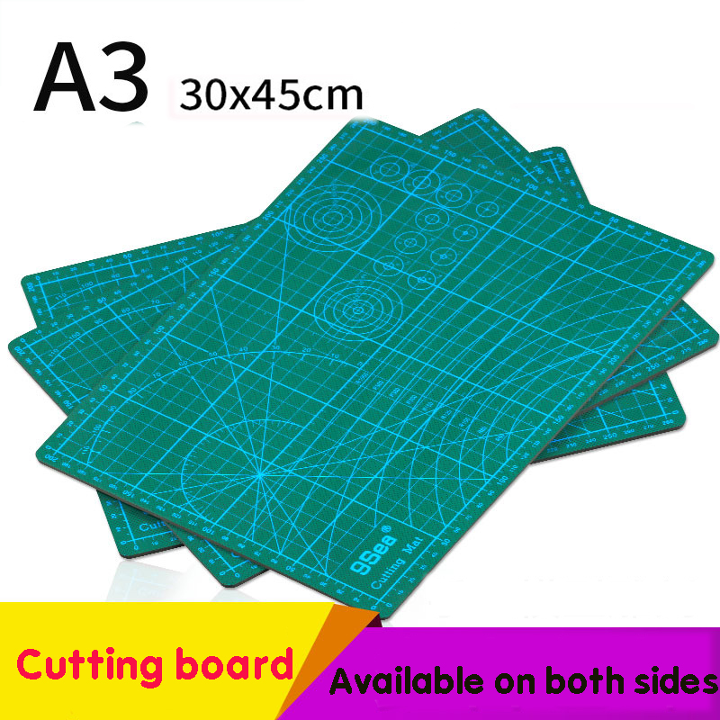 Pvc Cutting Pad A3 A4 Rectangular Grid Line Diy Model Tool Board Pad Tool Fabric Leather Paper Model Self-healing Cutting Board