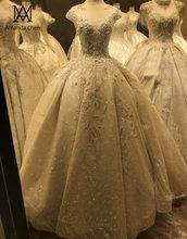 Hochzeitskleid Cap Sleeve Lace Applique Crystal Kralen Trouwjurk