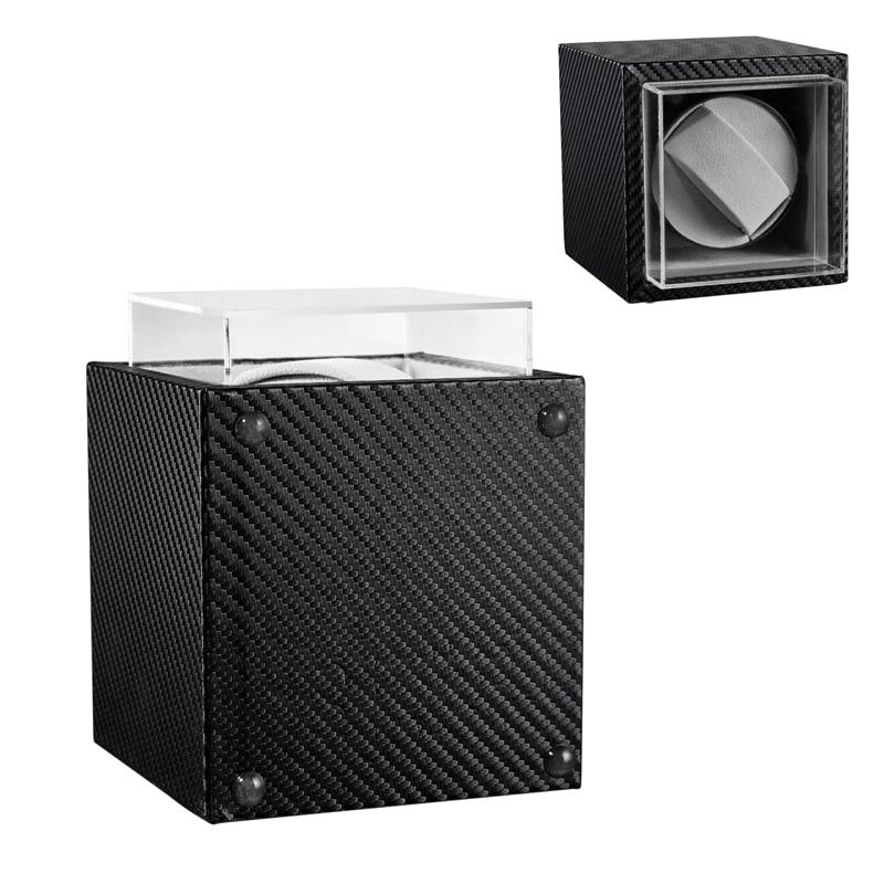 Automatic Mechanical Watch Winder Black Leather Watch Classic Motor Shaker Watch Holder Display Jewelry Storage Box