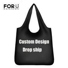 Forudesigns женские портативные сумки для покупок продуктовая